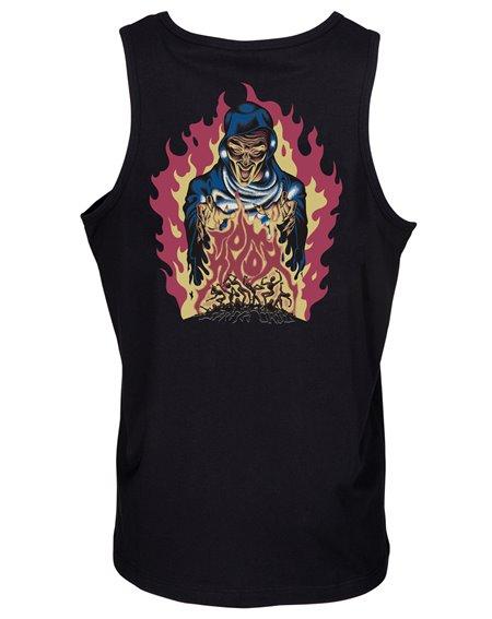 Santa Cruz Knox Firepit Camiseta de tirantes para Hombre Black