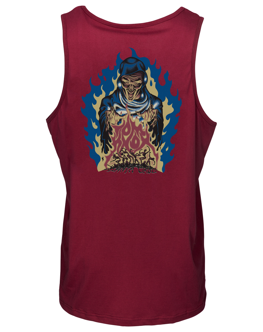 Santa Cruz Men's Vest Knox Firepit Burgundy