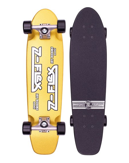 "Z-Flex Skateboard Cruiser Metal Flake 29.5"" Gold"
