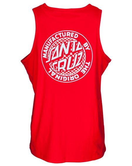 Santa Cruz Herren Tanktop Fisheye MFG Dot Deep Red