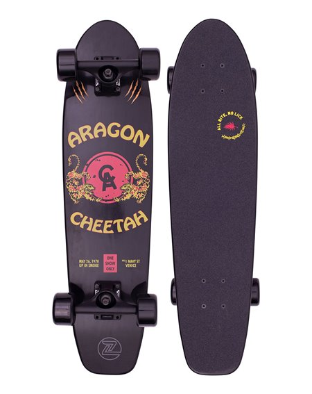 "Z-Flex Skateboard Cruiser Aragon Cheetah 29.5"" Black"