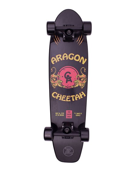 "Z-Flex Skateboard Cruiser Aragon Cheetah 29.5"" Black"
