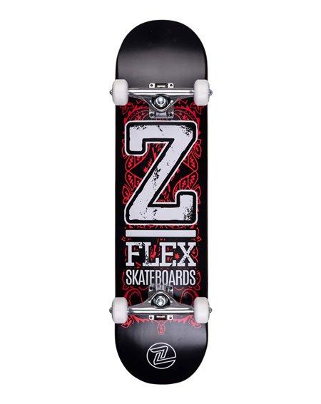 """Z-Flex Skate Montado Bold 8"""" Black/Red"""