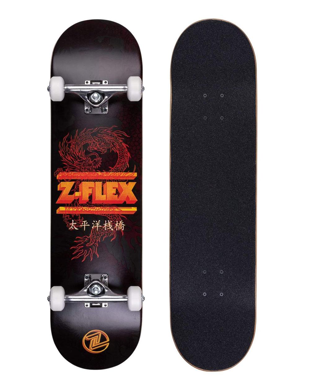 """Z-Flex Skateboard Dragon 8.25"""" Black"""