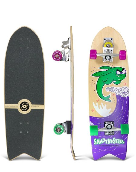 "Smoothstar Flying Fish 32"" Surfskate Green"
