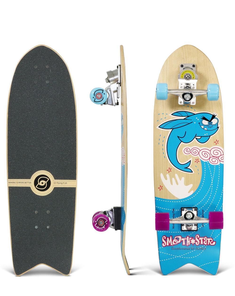 "Smoothstar Flying Fish 32"" Surfskate Blue"