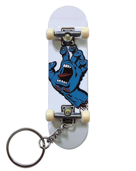 Santa Cruz Screaming Hand Fingerboard Keychain White