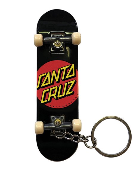 Santa Cruz Classic Dot Fingerboard Schlüsselanhänger Black