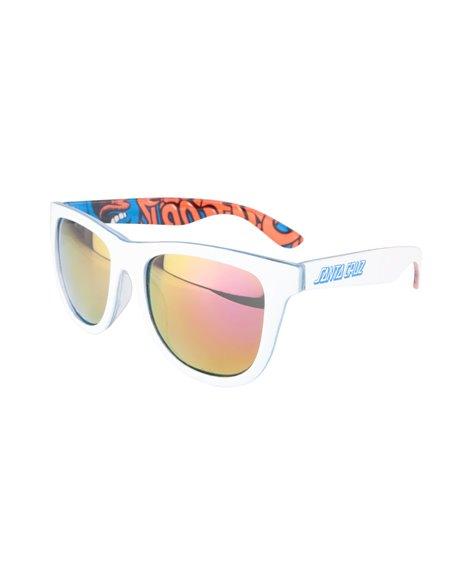 Santa Cruz Men's Sunglasses Screaming Insider White/Blue