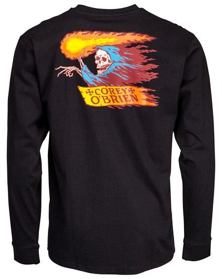 Santa Cruz OGSC Corey Reaper Camisetas de Manga Larga para Hombre Black