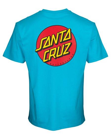 Santa Cruz Classic Dot Chest T-Shirt Uomo Aqua