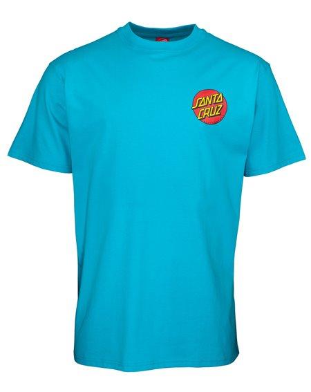 Santa Cruz Men's T-Shirt Classic Dot Chest Aqua