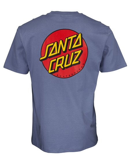 Santa Cruz Men's T-Shirt Classic Dot Chest Washed Navy