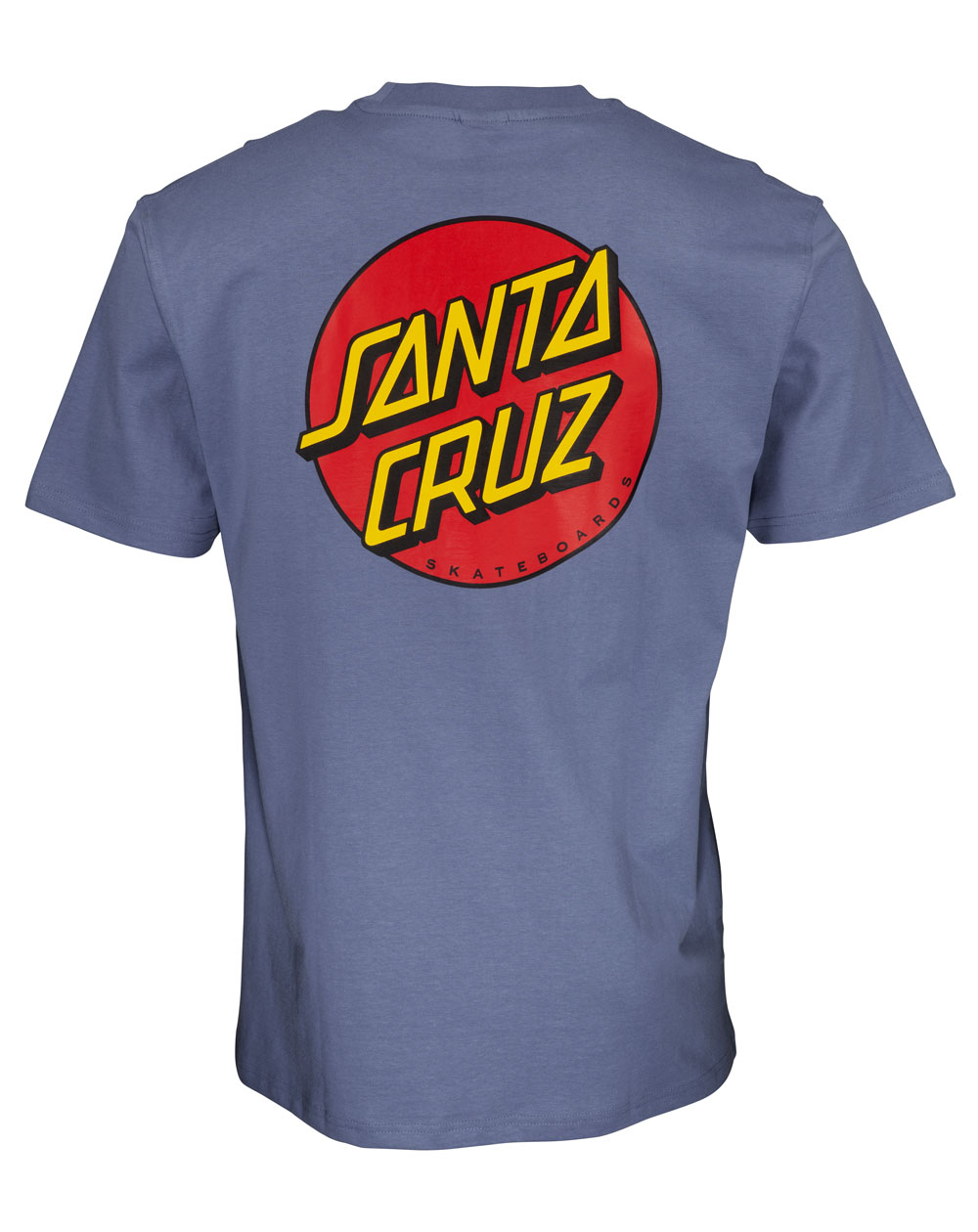 Santa Cruz Men's T-Shirt Classic Dot Chest Washed Navy