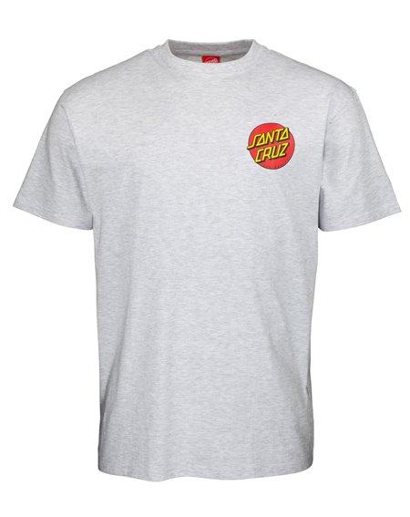 Santa Cruz Classic Dot Chest Camiseta para Homem Athletic Heather
