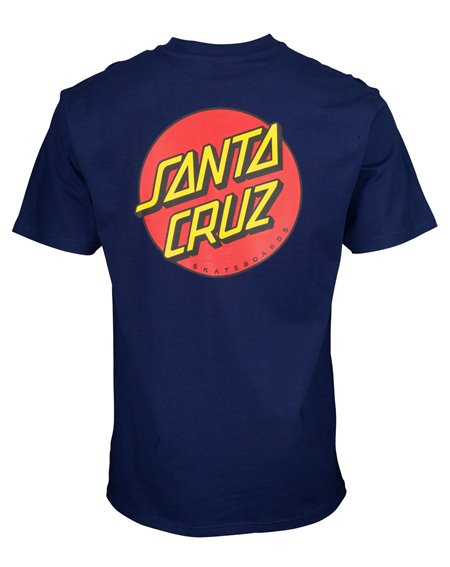 Santa Cruz Classic Dot Chest Camiseta para Hombre Dark Navy
