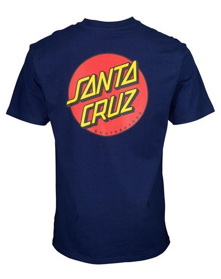 Santa Cruz Men's T-Shirt Classic Dot Chest Dark Navy