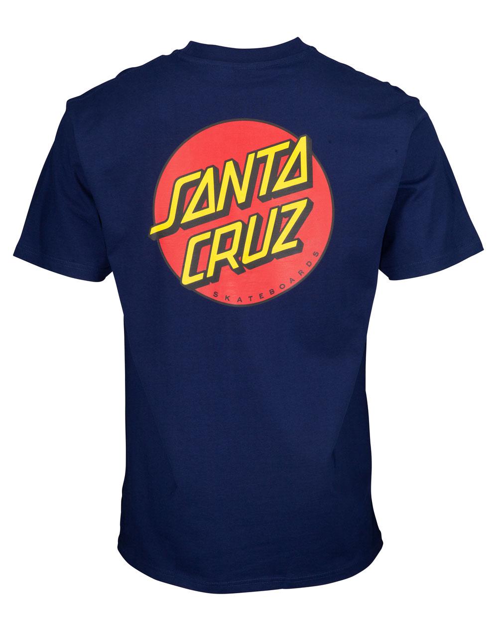 Santa Cruz Classic Dot Chest Camiseta para Homem Dark Navy