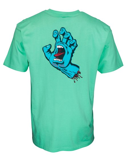 Santa Cruz Herren T-Shirt Screaming Hand Chest Jade Green