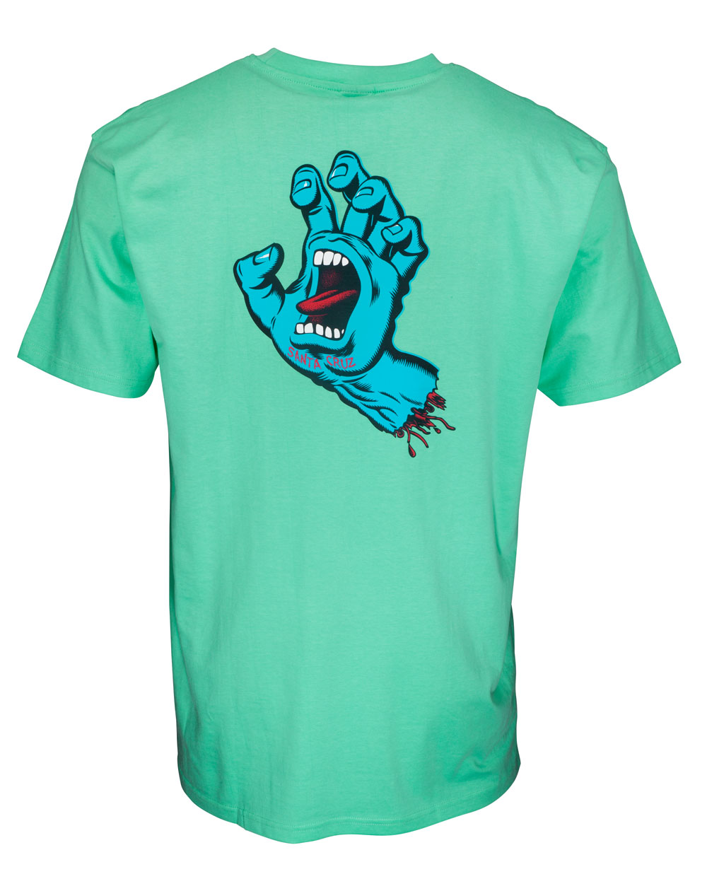 Santa Cruz Screaming Hand Chest T-Shirt Uomo Jade Green