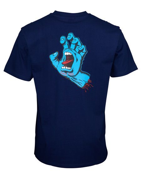 Santa Cruz Men's T-Shirt Screaming Hand Chest Dark Navy