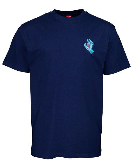 Santa Cruz Men's T-Shirt Screaming Hand Chest Dark Navy