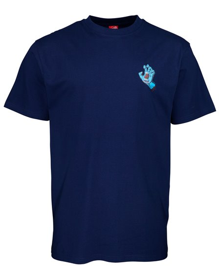Santa Cruz Screaming Hand Chest T-Shirt Uomo Dark Navy