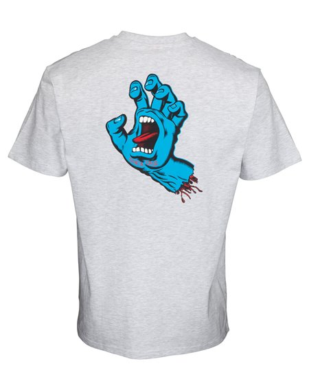 Santa Cruz Screaming Hand Chest T-Shirt Uomo Athletic Heather