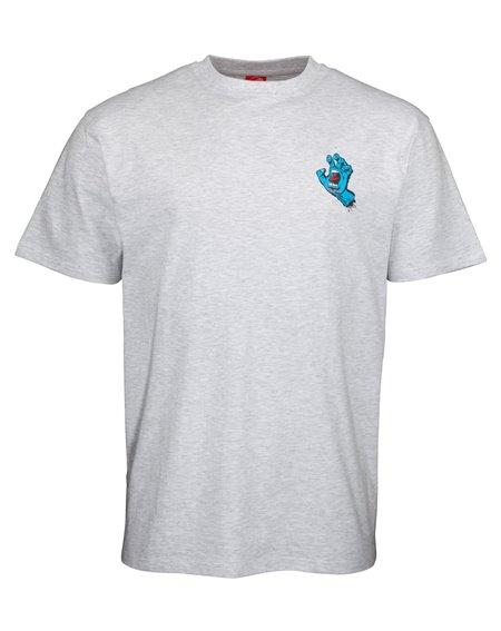 Santa Cruz Men's T-Shirt Screaming Hand Chest Athletic Heather