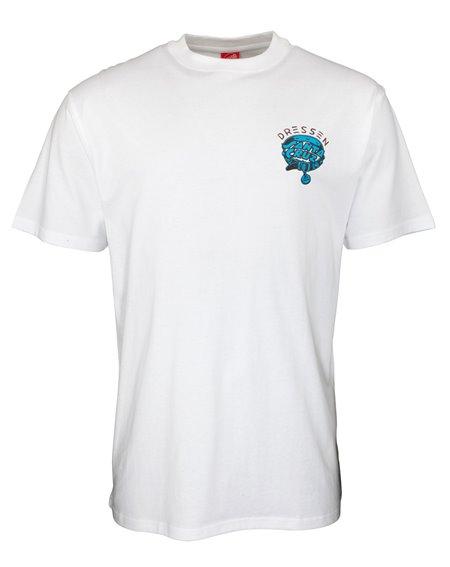 Santa Cruz Men's T-Shirt Dressen Pup Dot White