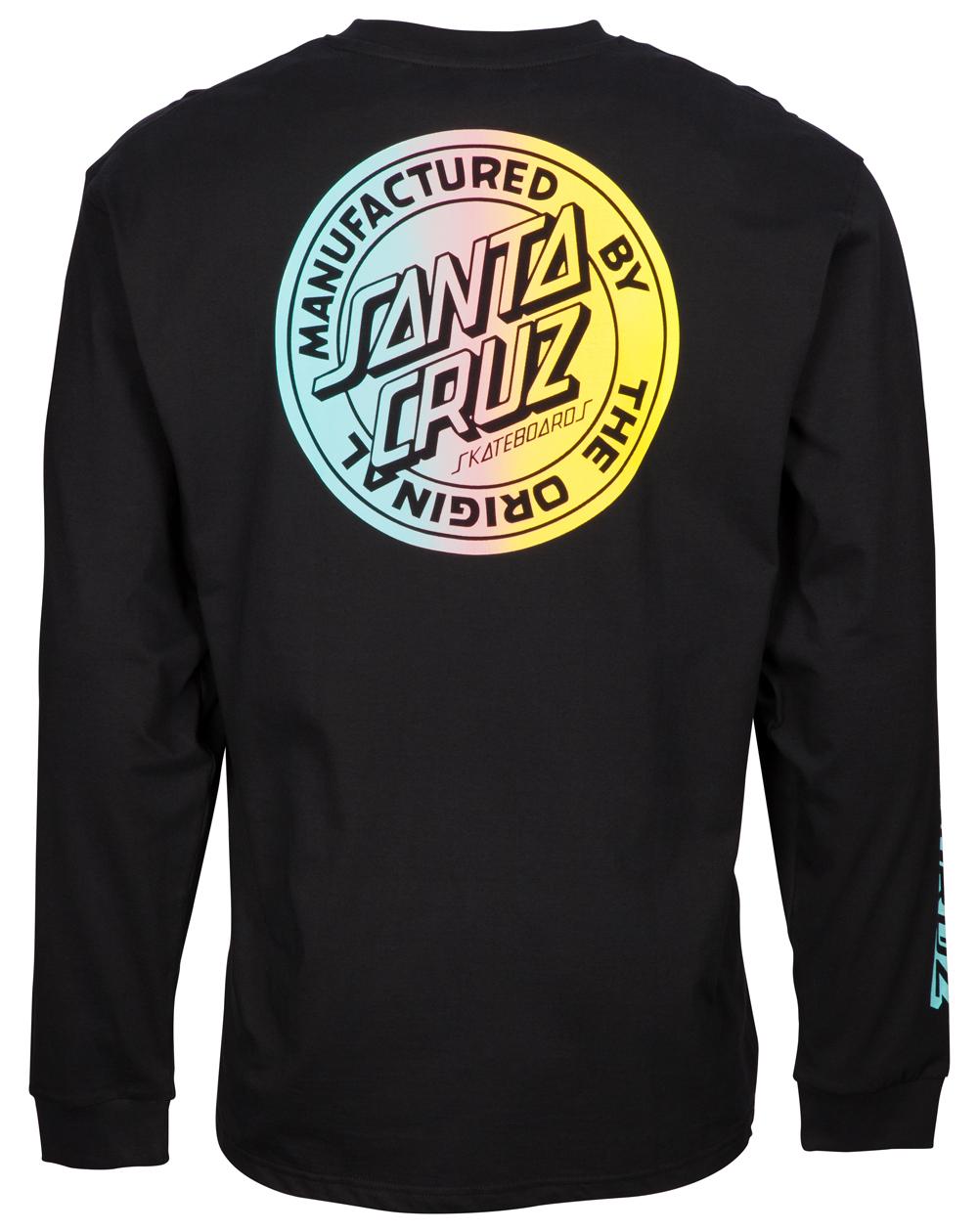 Santa Cruz MFG Dot Fade Camisetas de Manga Larga para Hombre Black