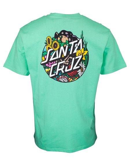 Santa Cruz Dressen Pup Dot Camiseta para Homem Jade Green