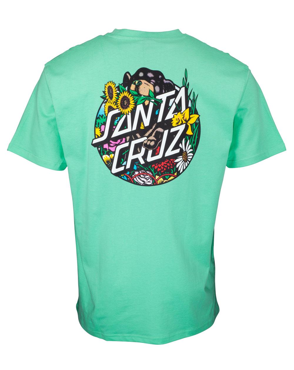 Santa Cruz Dressen Pup Dot T-Shirt Homme Jade Green