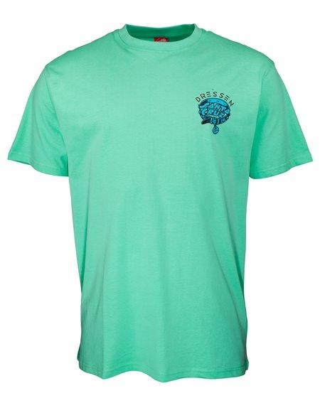 Santa Cruz Men's T-Shirt Dressen Pup Dot Jade Green