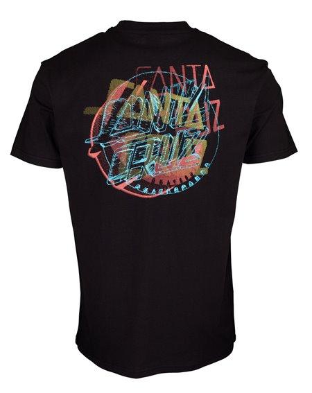 Santa Cruz No Pattern Dot Camiseta para Homem Black