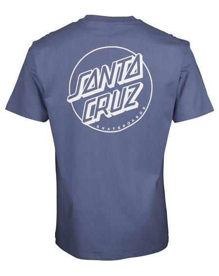 Santa Cruz Opus Dot Stripe T-Shirt Homme Washed Navy