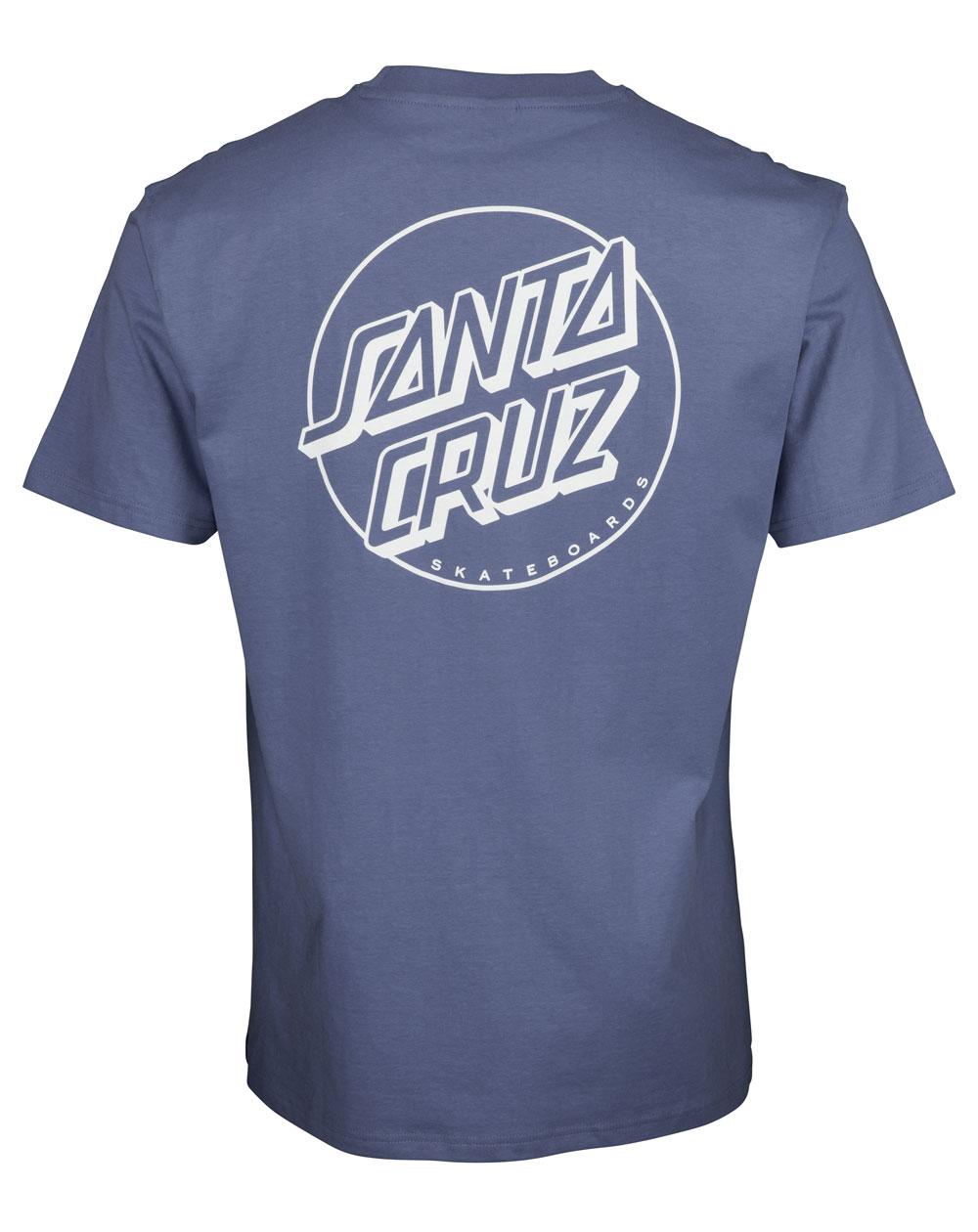 Santa Cruz Men's T-Shirt Opus Dot Stripe Washed Navy