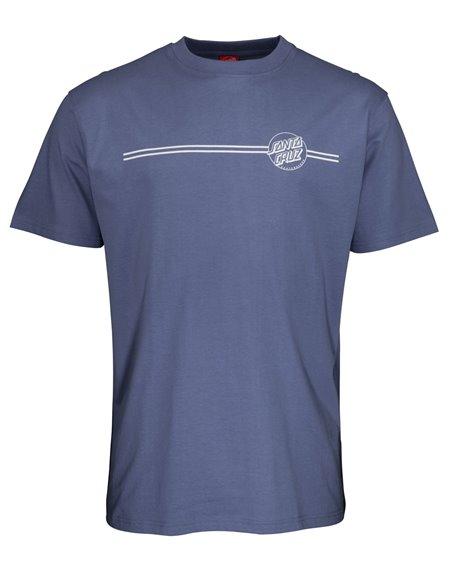 Santa Cruz Opus Dot Stripe T-Shirt Uomo Washed Navy