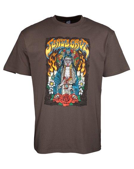 Santa Cruz Santa Muerte Camiseta para Homem Washed Black