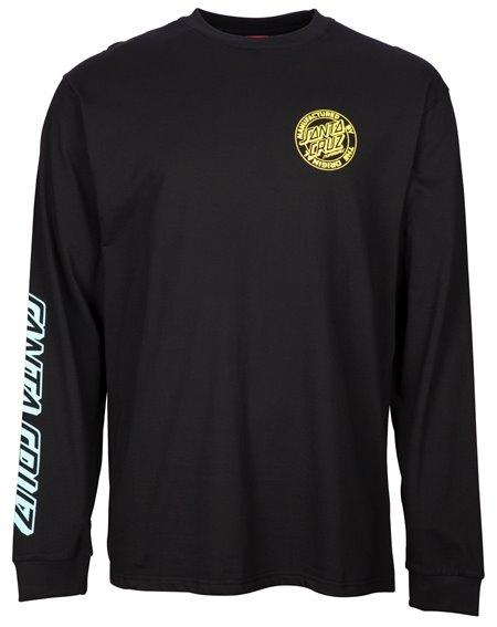 Santa Cruz MFG Dot Fade T-Shirt à Manches Longues Homme Black