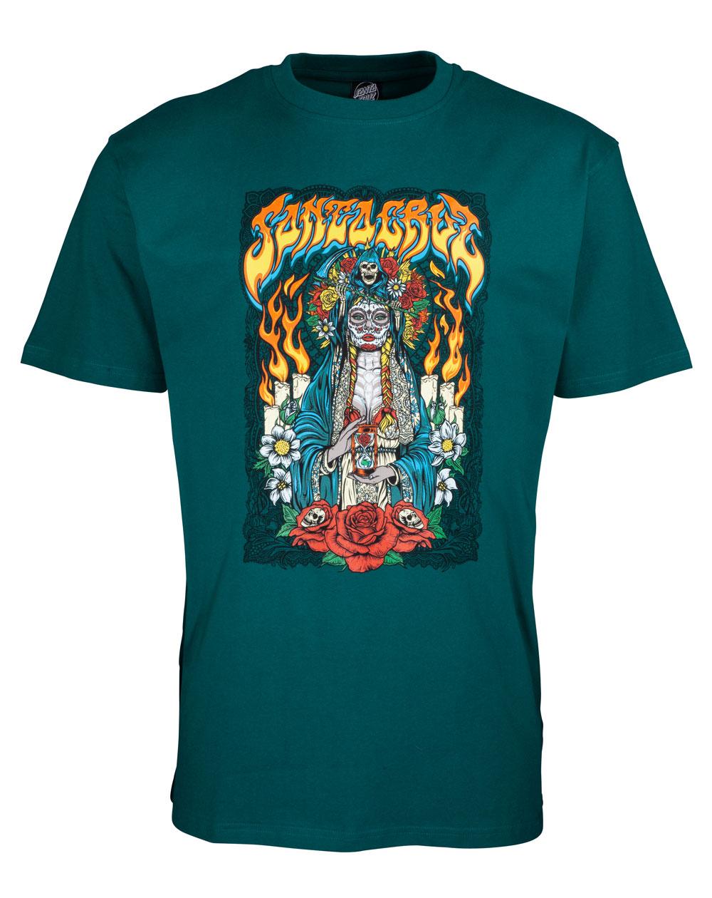 Santa Cruz Men's T-Shirt Santa Muerte Teal