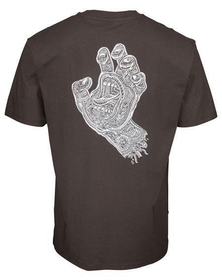 Santa Cruz Muerte Screaming Hand Camiseta para Homem Washed Black