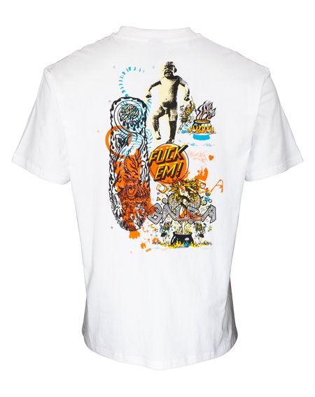 Santa Cruz Men's T-Shirt Salba Archive White