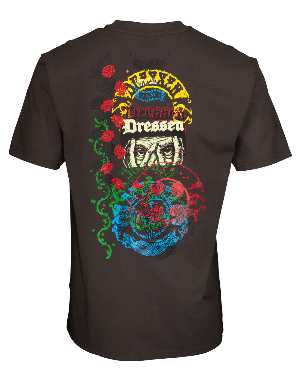 Santa Cruz Dressen Archive T-Shirt Uomo Washed Black