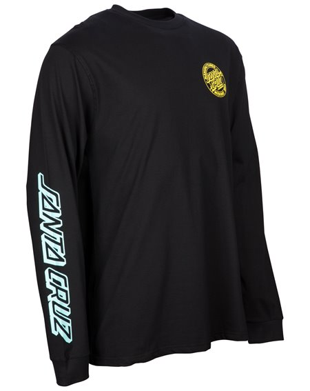 Santa Cruz Men's Long Sleeve Top MFG Dot Fade Black