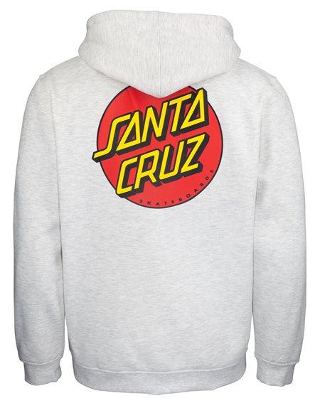 Santa Cruz Classic Dot Sweat à Capuche Zippée Homme Athletic Heather