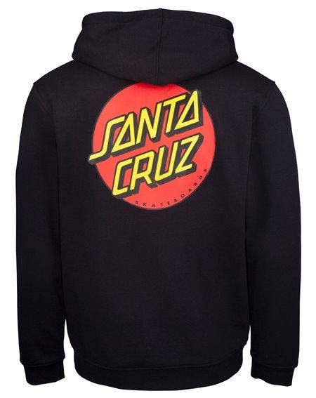 Santa Cruz Classic Dot Moleton com Capuz com Zíper para Homem Black