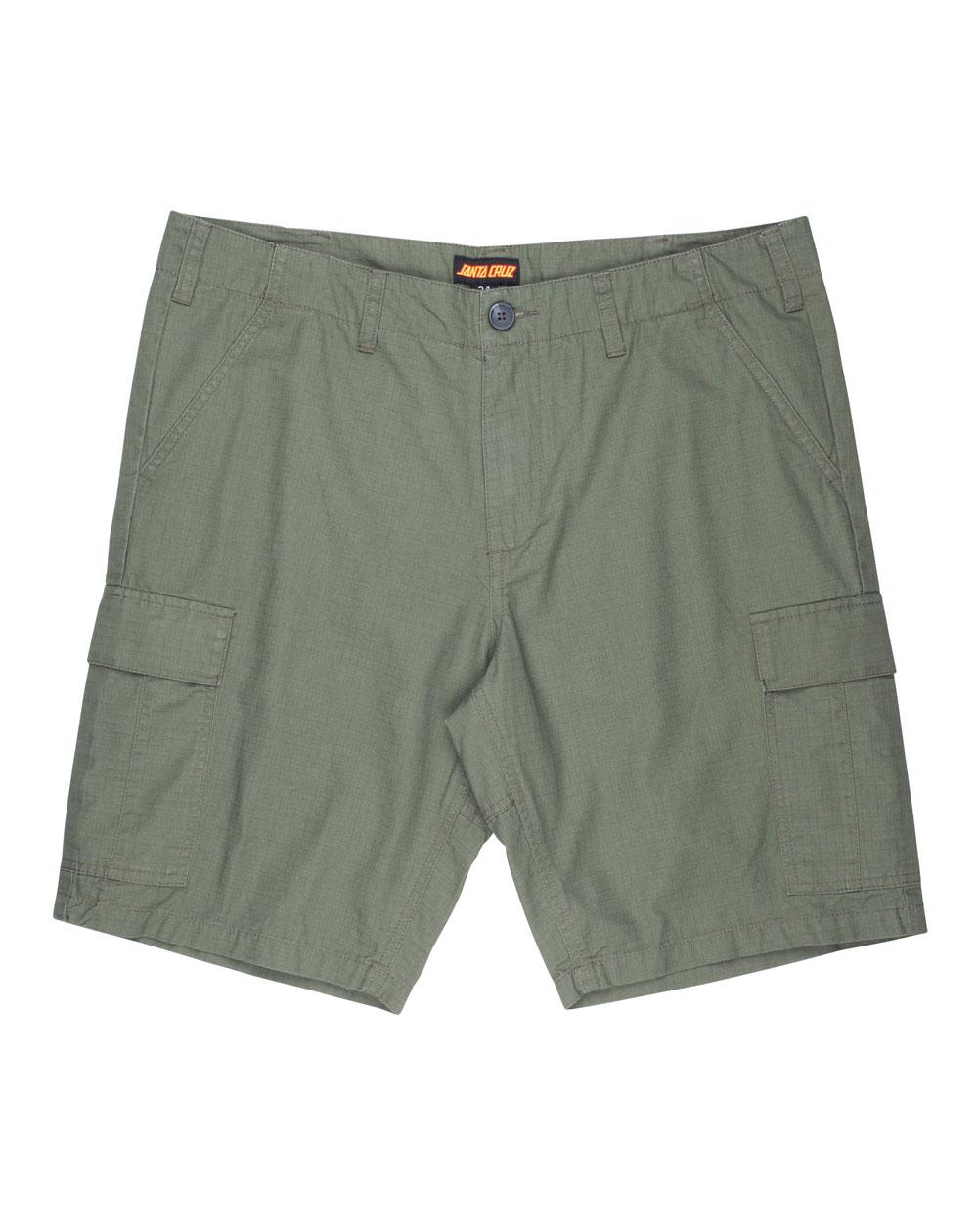 Santa Cruz Men's Shorts Defeat Workshort Military Green