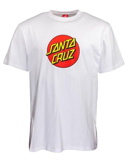Santa Cruz New Classic Dot T-Shirt Homme White