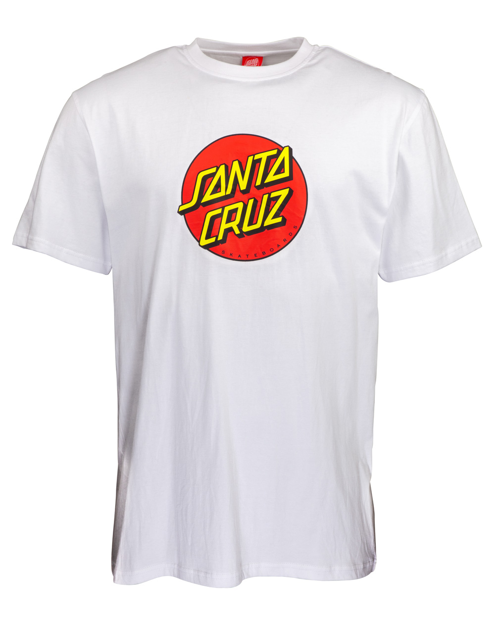 Santa Cruz Men's T-Shirt New Classic Dot White
